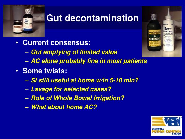 Gut decontamination