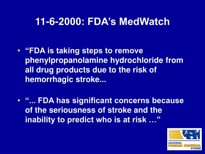11-6-2000: FDA's MedWatch