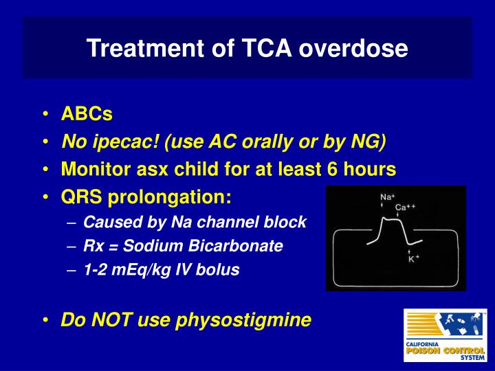 Treatment of TCA overdose