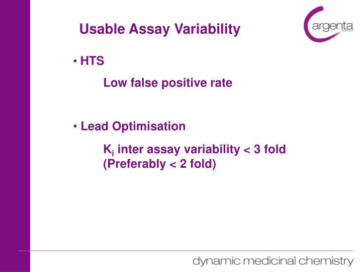 Usable Assay Variability