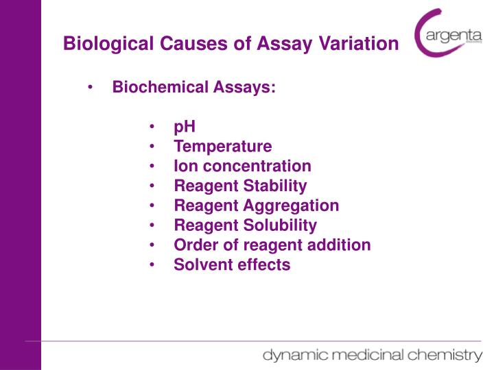 Biological Causes of Assay Variation