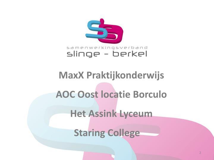 MaxX Praktijkonderwijs