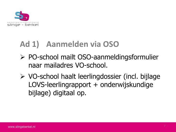 Ad 1)Aanmelden via OSO