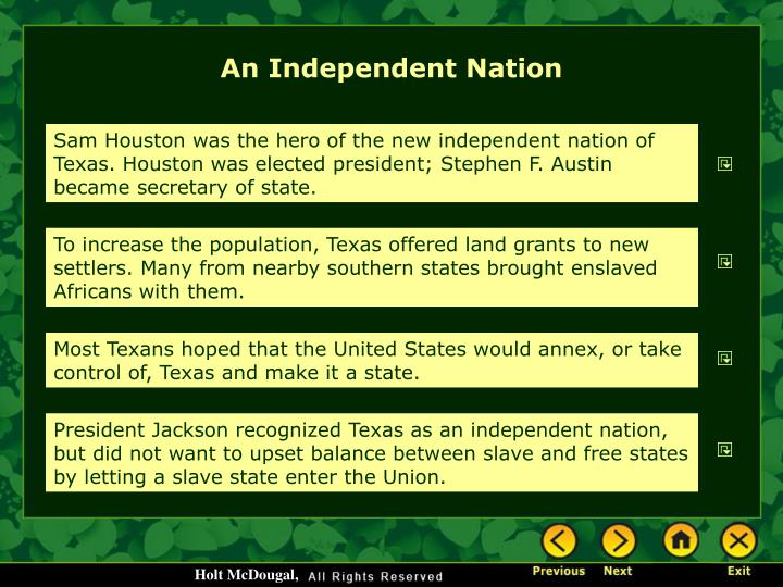 An Independent Nation