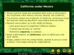 california under mexico