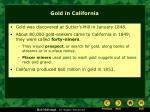 gold in california