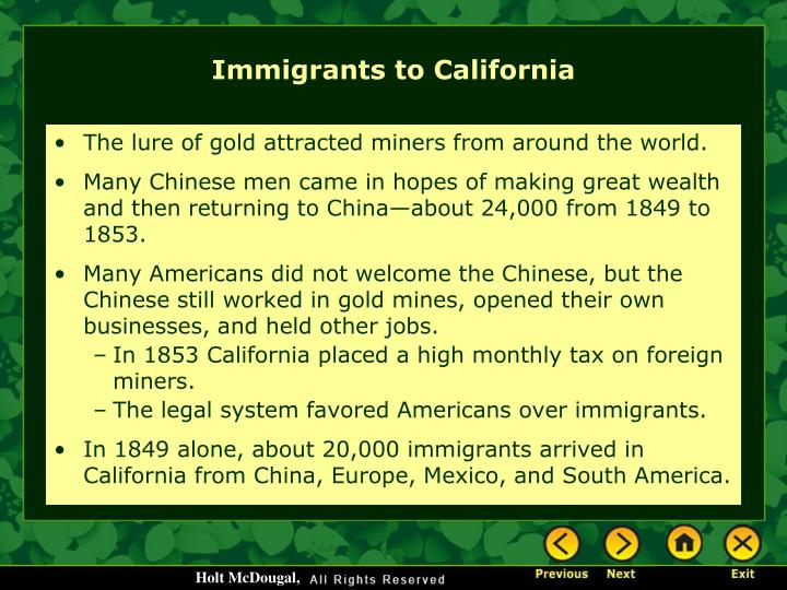 The lure of gold attracted miners from around the world.
