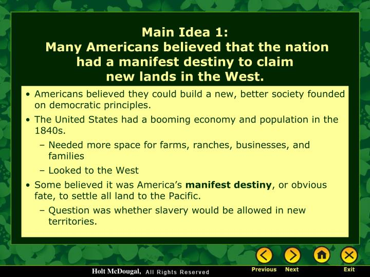 Americans believed they could build a new, better society founded on democratic principles.