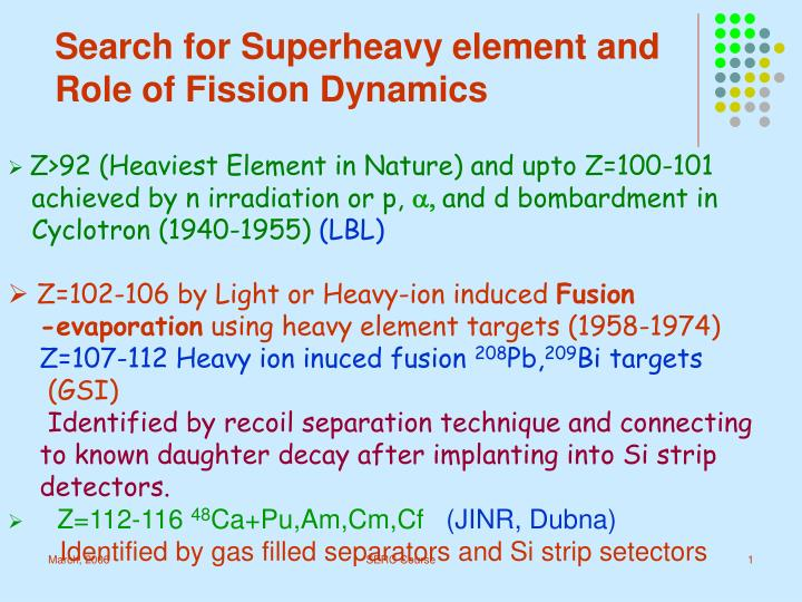 Search for Superheavy element and