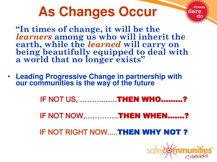 As Changes Occur