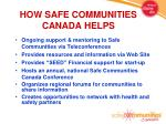 how safe communities canada helps