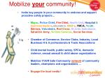 mobilize your community