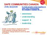 safe communities canada our mission