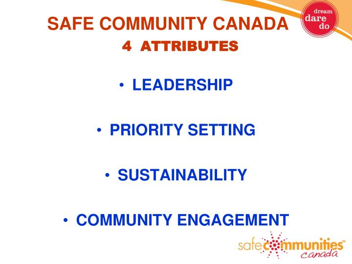 SAFE COMMUNITY CANADA