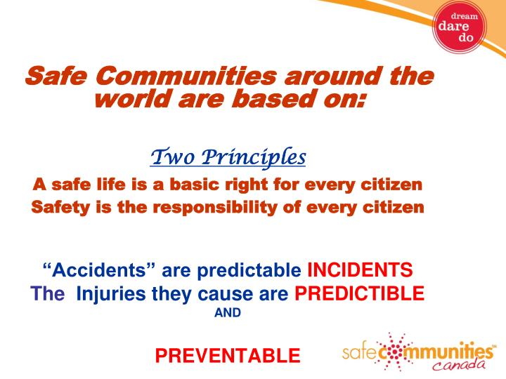 Safe Communities around the world are based on: