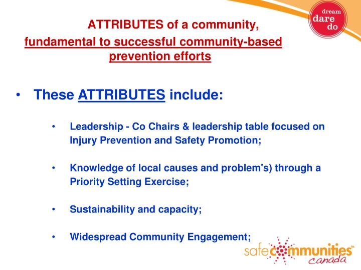 ATTRIBUTES of a community,