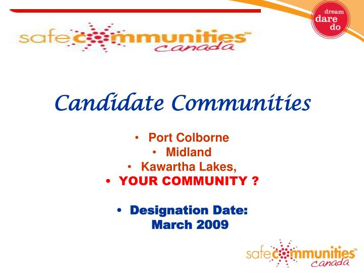 Candidate Communities