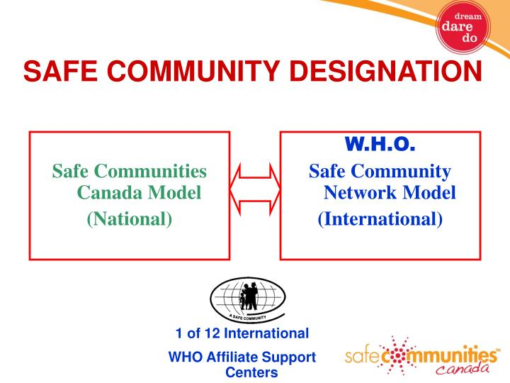 SAFE COMMUNITY DESIGNATION