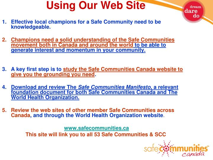 Using Our Web Site