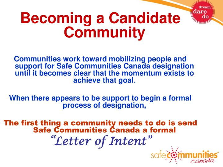 Becoming a Candidate Community