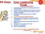 ten steps core leadership team