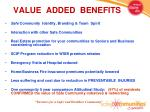 value added benefits