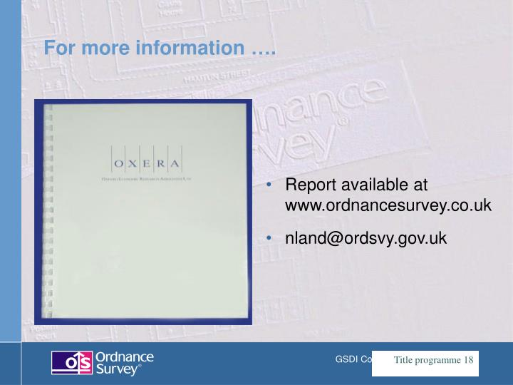 Report available at www.ordnancesurvey.co.uk