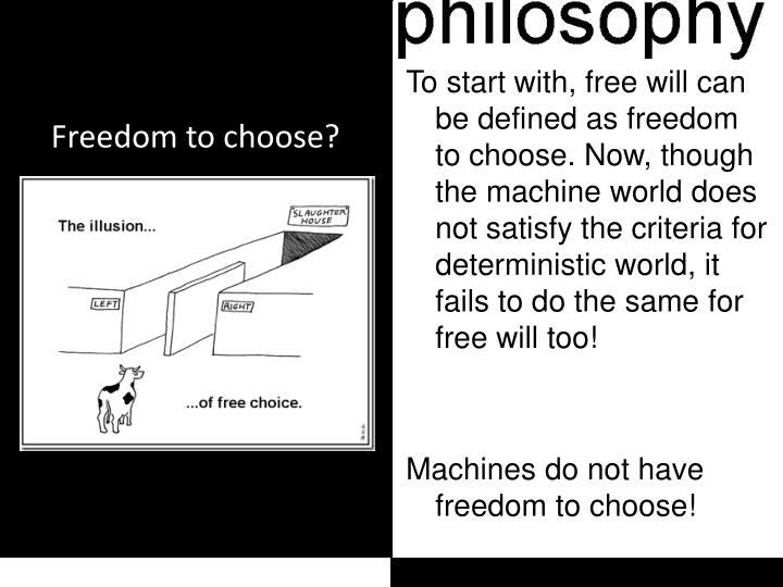 Freedom to choose?