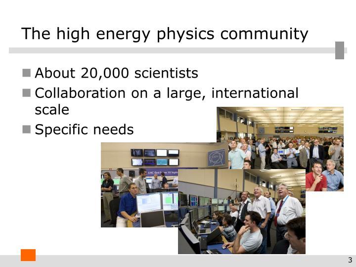 The high energy physics community