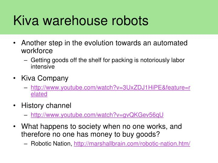 Kiva warehouse robots