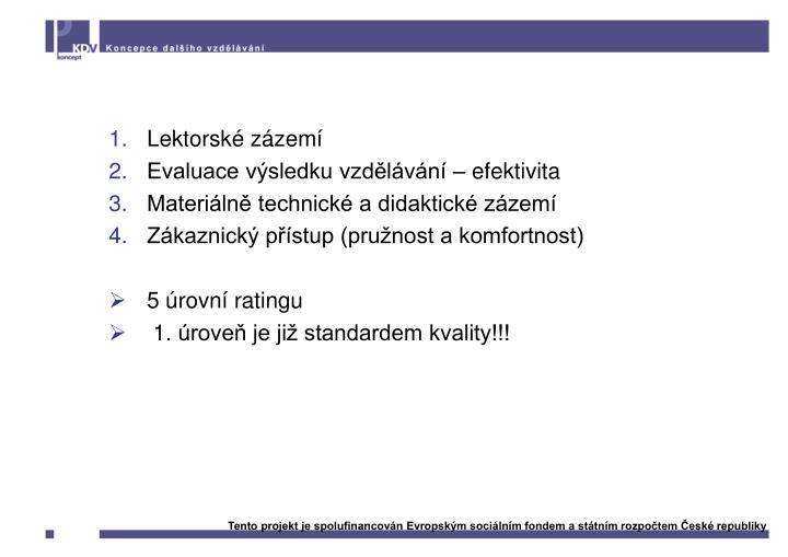 Kritéria kvality