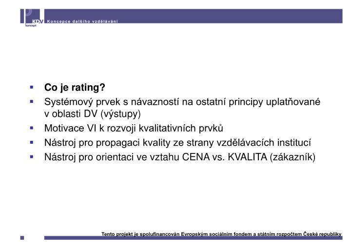 Rating vzdělávacích institucí