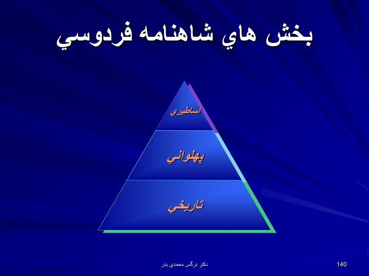 بخش هاي شاهنامه فردوسي