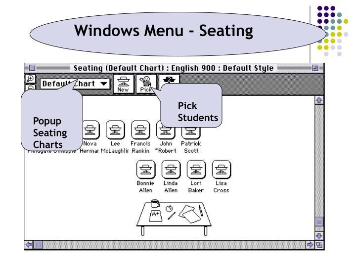 Windows Menu - Seating