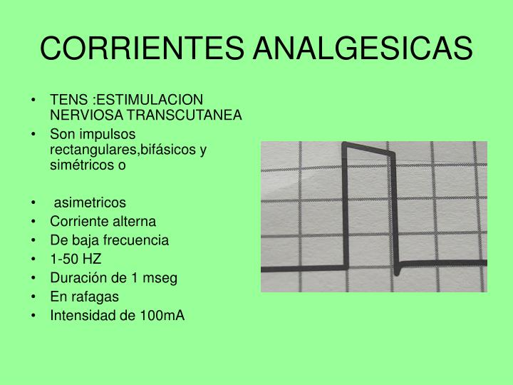 CORRIENTES ANALGESICAS