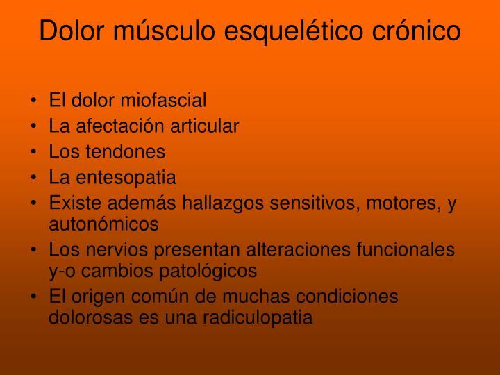 Dolor músculo esquelético crónico