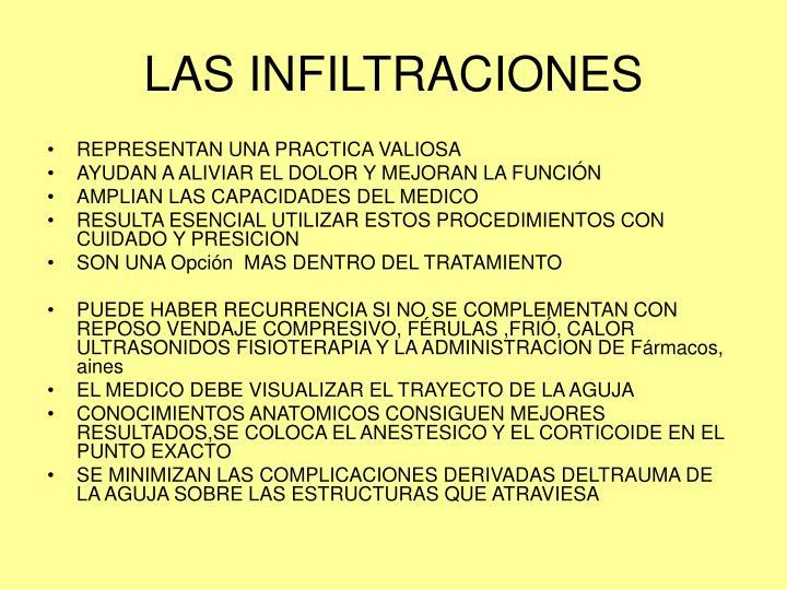 LAS INFILTRACIONES