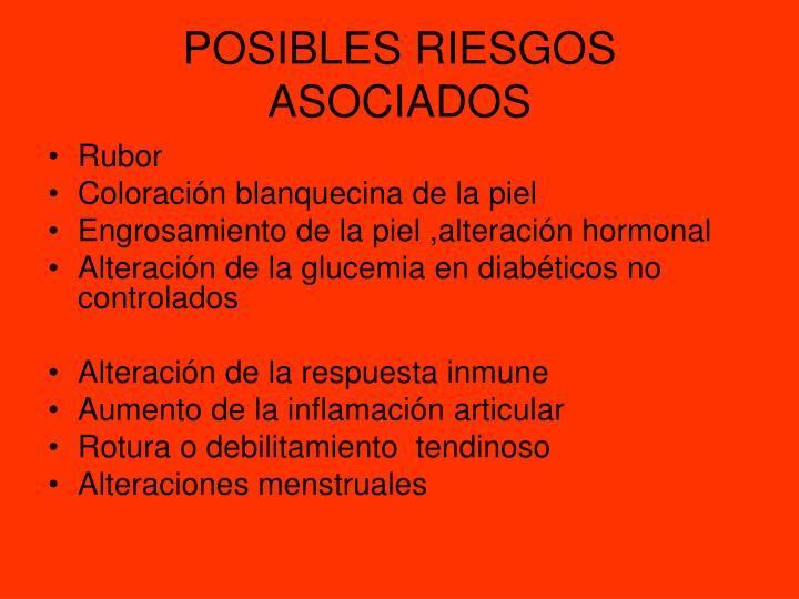 POSIBLES RIESGOS ASOCIADOS
