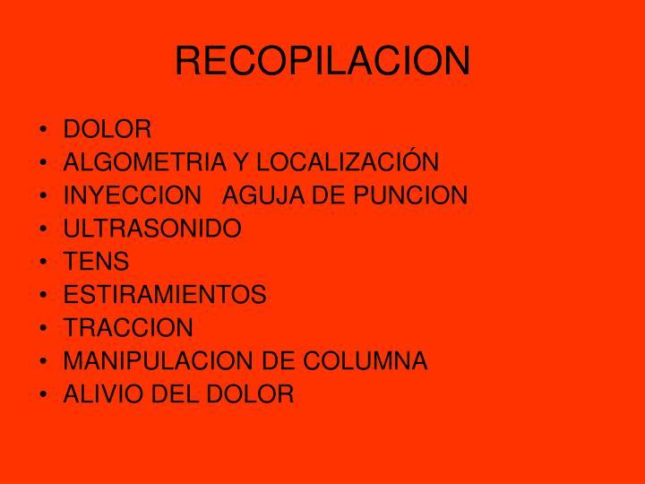 RECOPILACION