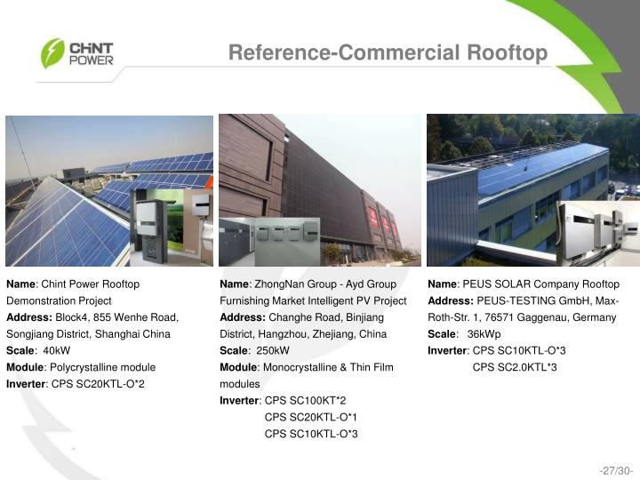 Reference-Commercial Rooftop