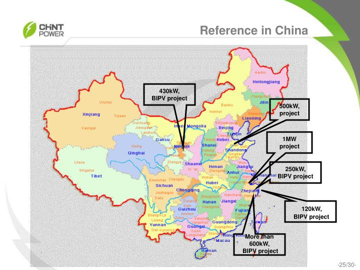 Reference in China
