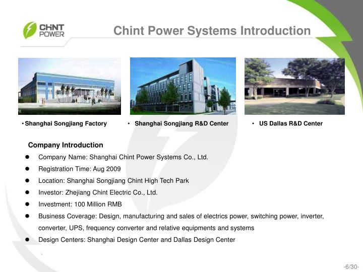 Shanghai Songjiang R&D Center