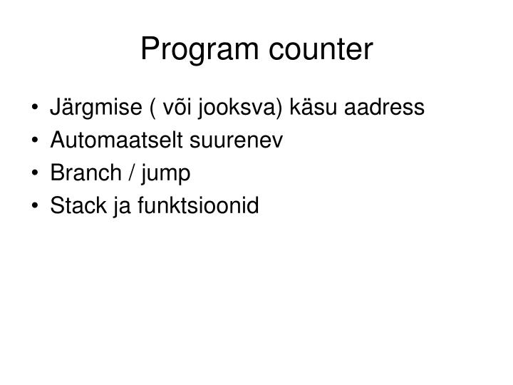 Program counter
