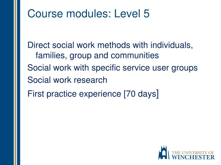 Course modules: Level 5