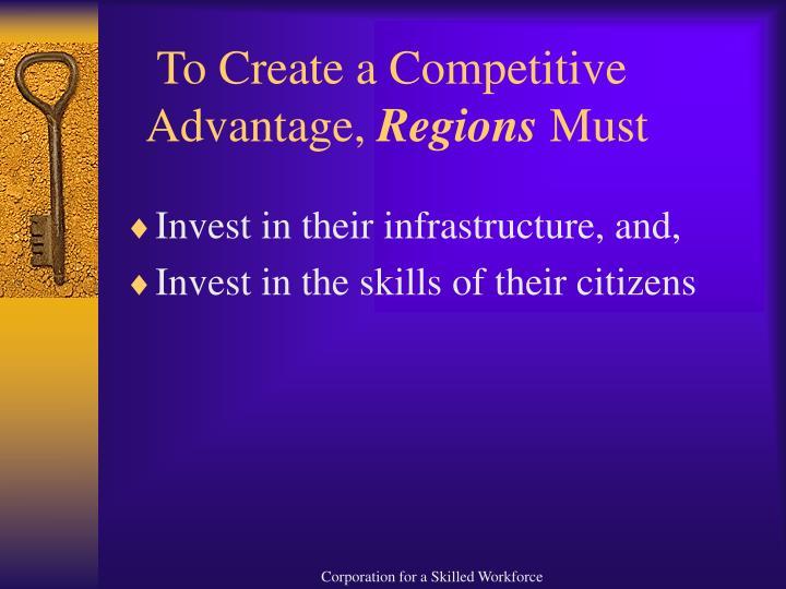 To Create a Competitive   Advantage,
