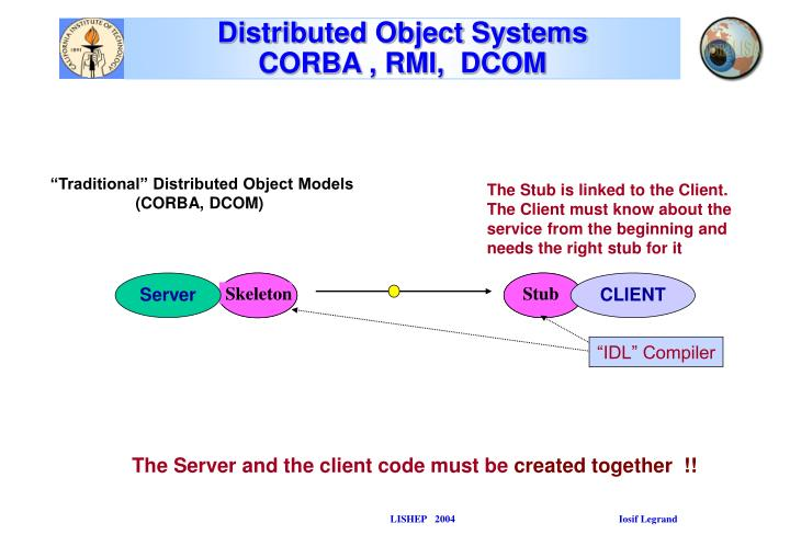 Distributed object systems corba rmi dcom