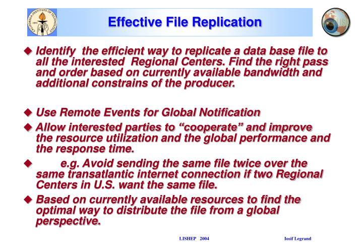Effective File Replication