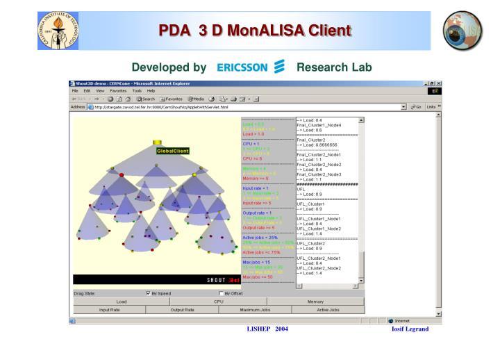PDA  3 D MonALISA Client