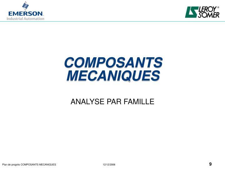 COMPOSANTS MECANIQUES