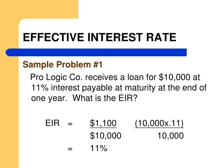 EFFECTIVE INTEREST RATE